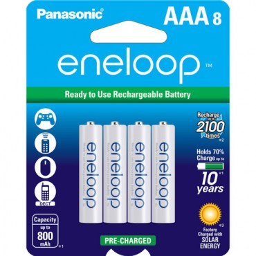 Pilas Eneloop AAA 800mAh x8 unidades