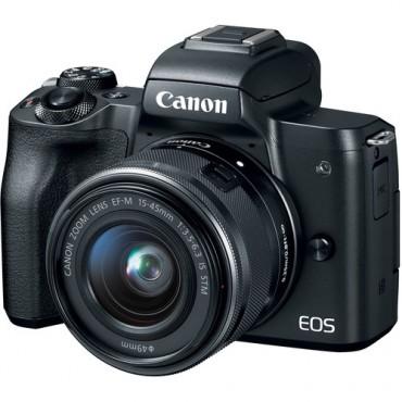 Camara Canon EOS  M50  MK II Mirrorless Kit 15-45mm Black