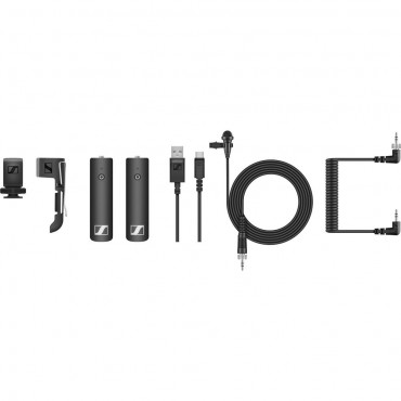 Sennheiser Sistema de Audio inalambrico XSW-D Lavalier Set de transmisor Capsula ME2 II receptor 3.5mm