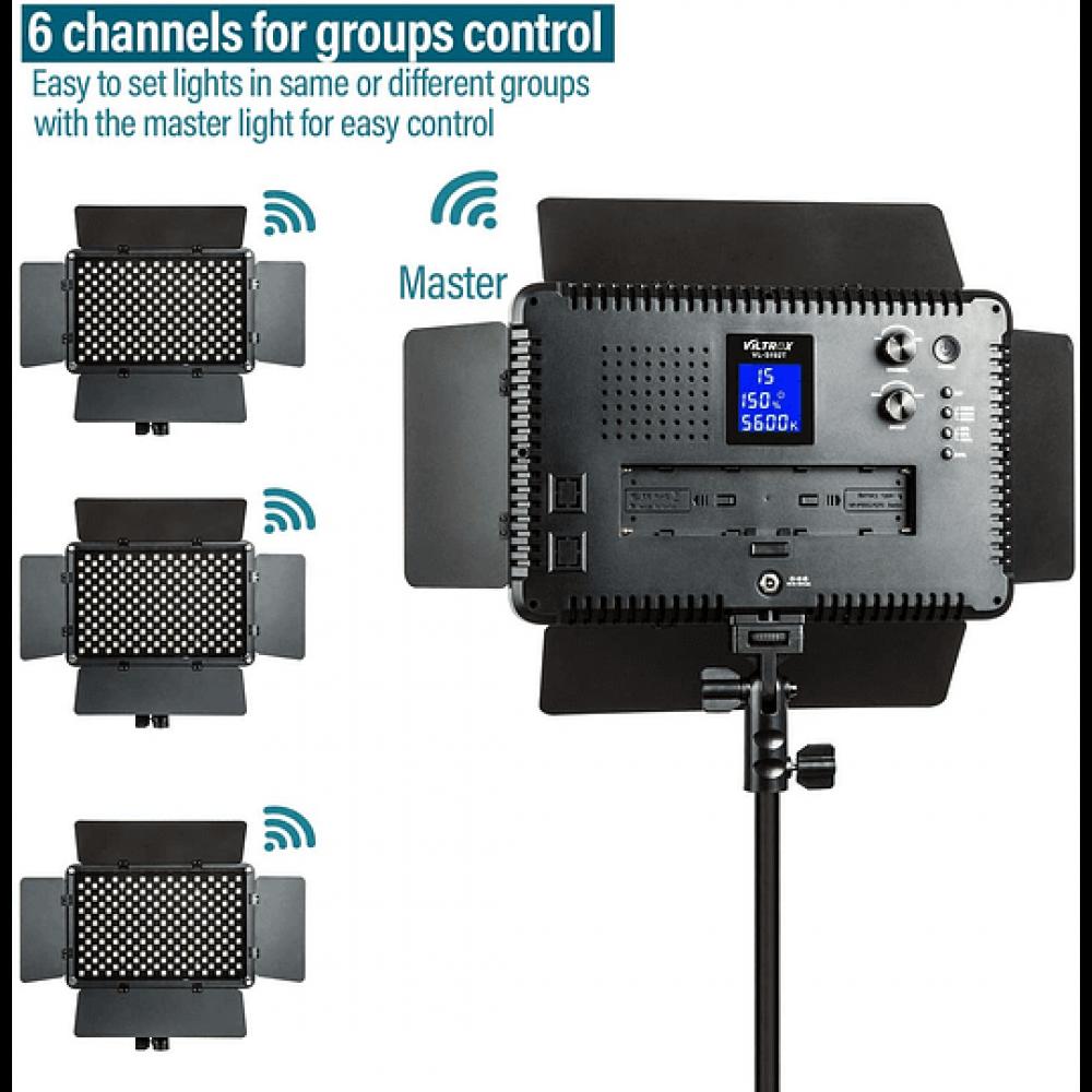 Viltrox VL-192T kit de 3 Luces Led 45W CRI+95