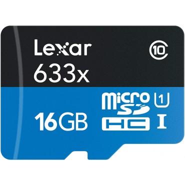 Tarjeta de memoria micro SDHC  Lexar 633x 16GB