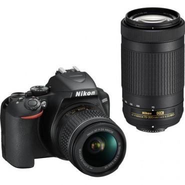 Camara Nikon  D3500 DSLR Kit 18-55mm y 70-300mm KIT Box