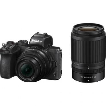 Camara Nikon  Z50 Mirrorless DX 16-50mm & 50-250mm VR