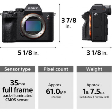 Sony Alpha A7 R IV Solo Cuerpo