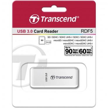 Lector de tarjetas USB RDF5 Transcend Blanco
