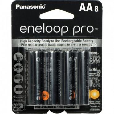 Pilas Eneloop pro AA recargables x8 2550mAh