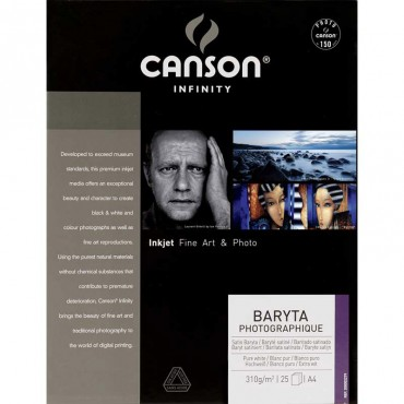 Canson Infinity Baryta Photografique 310 GR A4 25 Hojas