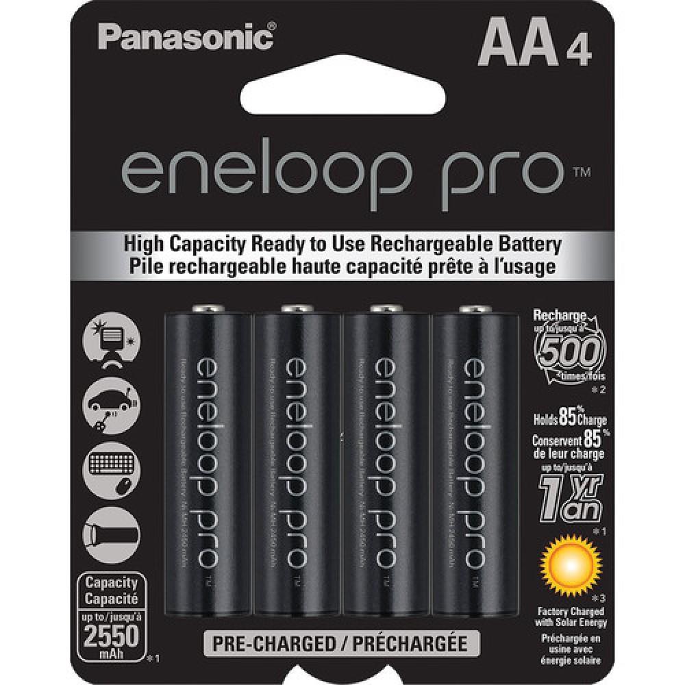 Pilas Eneloop pro AA recargables 2450 mAh 4U